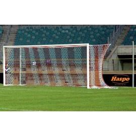 Poarta Fotbal Fixa Haspo 7.32x2.44 m, Dur-Aluminiu, Profil Oval 100x120mm, Alb  - cod 1005B